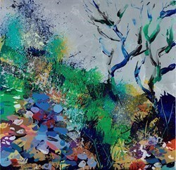Summer Blooms by Duncan MacGregor -  sized 18x18 inches. Available from Whitewall Galleries